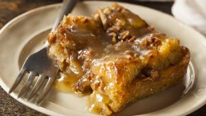 GINGER PEAR BREAD PUDDING