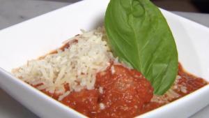 Prosciutto-wrapped Mozzarella!