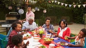 Family enjoys 4th of July BBQ
