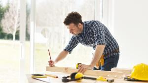 man doing DIY home improvement