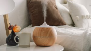 Aroma Therapy Diffuser next to bed