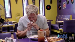 Gordon spits out gross chitlins
