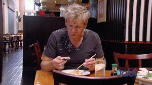 Gordon dislikes sushi pizza