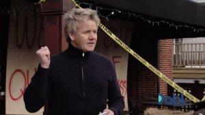 Gordon Points to Closed Down Restaurant