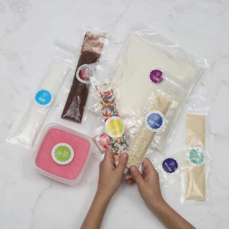 Ingredients from a Baketivity box