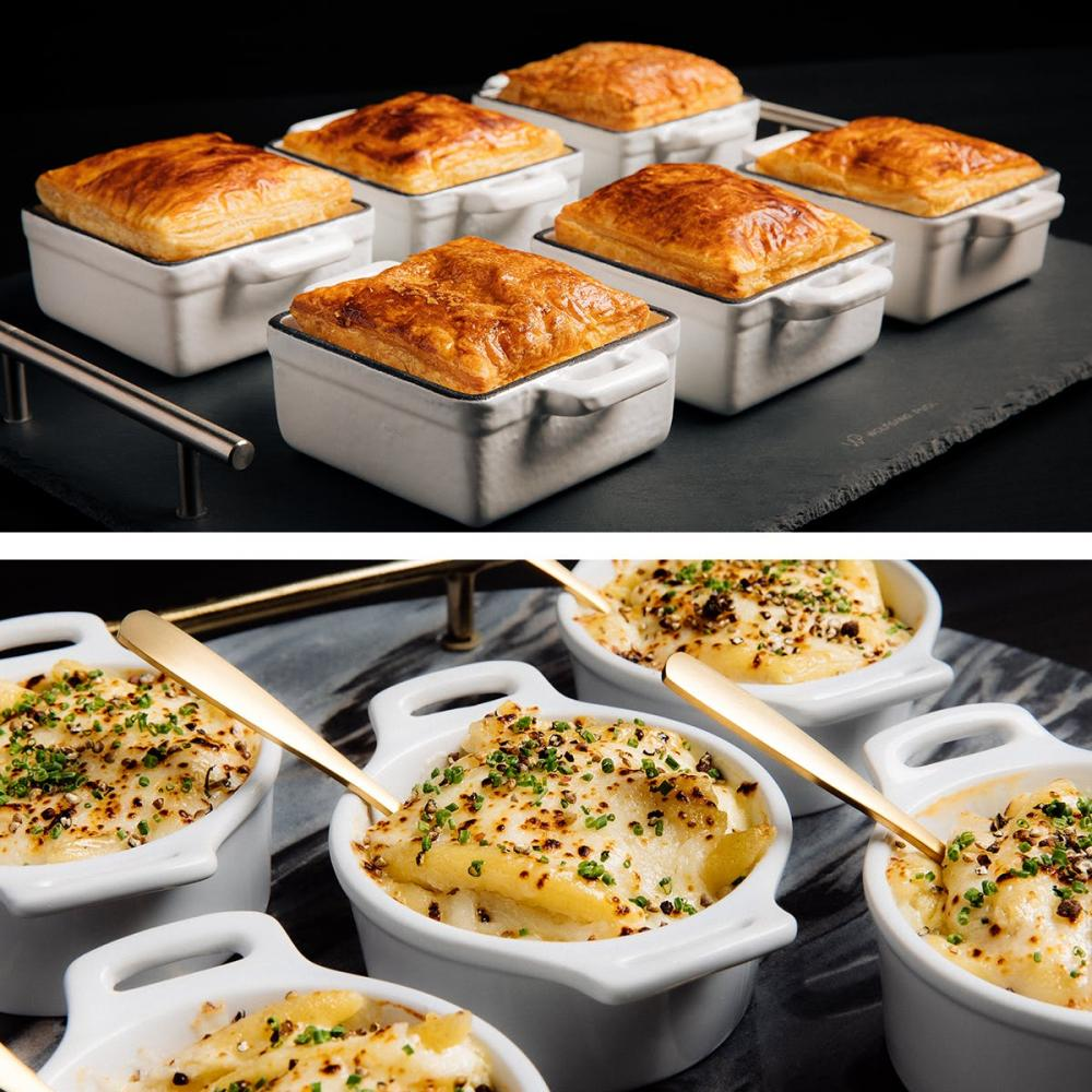 pot pies and mac n' cheese