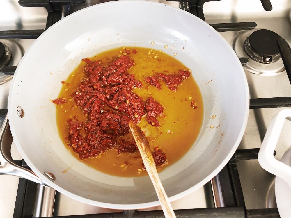 Rigatoni Vodka Tomato Paste Reduction